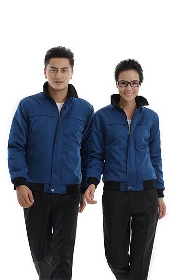 螺纹蓝色时尚工服