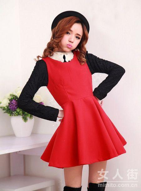 冬天裙子穿法:12款背心裙穿搭