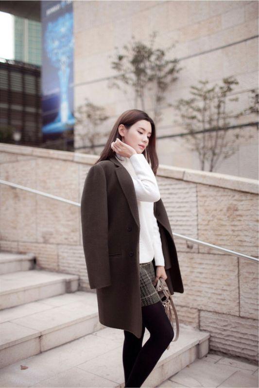 最新韩版女装穿搭术,时尚明星街拍秀屋顶秧田工装